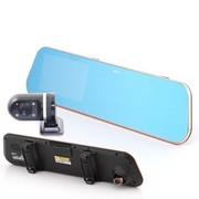 捷渡 D610 后视镜行车记录仪 双镜头 高清 4.3英寸屏 停车监控 双镜头标配+32卡+暗线