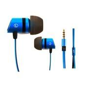魅即 Angell202 入耳式线控通话耳机 适用于三星小米苹果 安卓版-蓝色