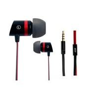 魅即 Angell202 入耳式线控通话耳机 适用于三星小米苹果 安卓版-黑红