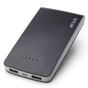 多彩 MP-06 10000mAh聚合物移动电源 双USB输出充电宝 黑色