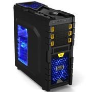 超频三 纵横玩家版 中塔机箱(原生双U3/背线/SSD位/侧透/支持超长显卡/免工具)