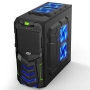 超频三 铠甲 中塔游戏机箱(USB3.0/背线/SSD位/超强散热/办公机箱)