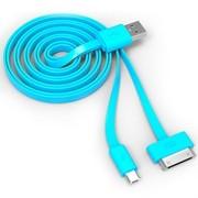 TPOS TC011 数据线+充电线 一拖二 苹果iPhone 4/4s接口可充电可数据micro USB接口可充电