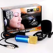 KOOL 电容麦克风笔记本电脑k歌专用yy话筒声卡录音唱吧麦克风套装 普通版白色
