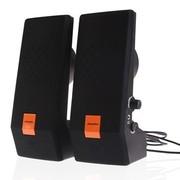 杰科瑞 JS-120 橙色 2.0经典全网面仰角设计 完美高音笔记本音箱 电脑音箱 多媒体音响