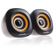 杰科瑞 JS-U70 黄色 2.0经典加强型立体声 笔记本音响 电脑音箱 多媒体音响