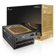 海韵 额定1250W X-1250 电源 (80PLUS金牌/全模组/全日系电容/ 支持双CPU/7年质保)