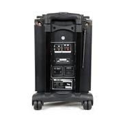 先科 8寸喇叭大功率电瓶音响拉杆轮滑音箱Q-8B户外音箱 带无线话筒