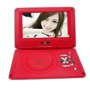 金正 移动电视EVD 911 12英寸便携式DVD影碟机 3D高清可旋转屏读光盘SD卡 红