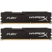 金士顿 骇客神条 Fury系列 DDR3 1866 16GB(8GBx2)台式机内存(HX318C10FBK2/16)黑色