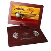 小霸王 移动电视DVD SB-636 17英寸高清便携式播放器游戏机外接USB锂电MP5 紅