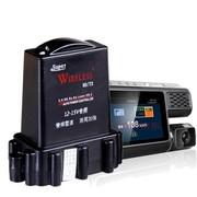 音信 行车记录仪高清广角夜视汽车载电子狗一体机安全预警仪流动固定测速分体雷达F101 标配+16G卡