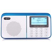 乐果 R909 大屏老人机迷你小音响插卡FM数字收音机(蓝白)
