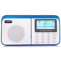 乐果 R909 大屏老人机迷你小音响插卡FM数字收音机(蓝白)产品图片主图