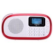 乐果 Q15 迷你音响便携插卡数码小音箱 FM收音机MP3胎教播放器(雅致红)