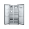 美的 BCD-516WKM(E) 516升对开门冰箱(泰坦银)产品图片3