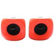 亿豆 Ed-m508 2.0声道 线控 USB 笔记本电脑音箱 白红