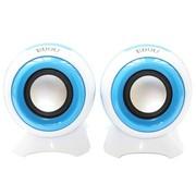 亿豆 Ed-m708 2.0声道 线控 USB 笔记本电脑音箱 宝石蓝
