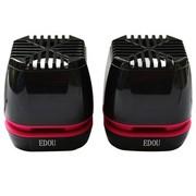 亿豆 Ed-m808 2.0声道 USB 笔记本电脑音箱 华丽黑
