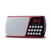 十度 S158 便携式播放器插卡音箱电脑音响收音机老年人迷你音响低音炮mp3随身听外放小音箱 中国红