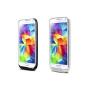 CRDC 背夹电池 三星S5手机充电宝i9600大容量专用皮套S5充电宝G9008V便携式 CRAS5-1 黑色