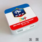 果珈 足球盛宴纪念版手机平板通用充电宝小米5S移动电源8400毫安 法国