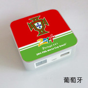 果珈 足球盛宴纪念版手机平板通用充电宝小米5S移动电源8400毫安 葡萄牙