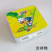 果珈 足球盛宴纪念版手机平板通用充电宝小米5S移动电源8400毫安 吉祥物