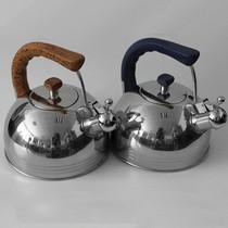 赫德赛 304医用不锈钢烧水壶 煤气电磁炉响水壶 鸣音开水壶 鸣笛电热水壶 桃木色 3.8L产品图片主图