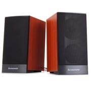 联想 C1020 全木质音箱 红榉色 柔美音质 金属网罩 精致耐用