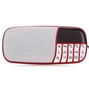 夏新 X300 超薄多功能便携式数码播放器 立体声 收音机 数字选歌 TF插卡音箱 红色