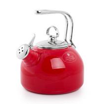 尚塔尔(CHANTAL) 美国 经典烧水壶 开水鸣笛 内胆外层珐琅 防锈防水垢 中国红产品图片主图