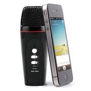 妮可诗(NIKESHI) 091 手机KTV/安卓手机专用k歌/录音/混响电容卡拉ok随身话筒/支持双人合唱 091黑色苹果版