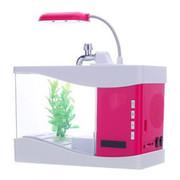 飞狗 便携蓝牙音响音乐鱼缸音箱创意个性小音箱 通用 玫瑰红色