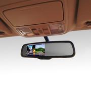 逸炫 后视镜双镜头行车记录仪 专车专用 倒车影像 高清广角 4.3寸 单镜头记录仪 名驭/领翔/途锐/途欢/圣达菲