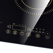 富士宝 IH-H332B 触摸式双炉3300W超大功率电磁炉赠汤锅+炒锅