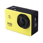 一航达 F99行车记录仪 高清防水外壳运动DV多功能数码摄像机 1080p 黄色 官方标配+4G卡