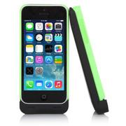 CRDC 背夹电池iphone5背夹电池5S移动电源5C无线移动电源无线充电宝苹果5充电宝 CRA5S-2 黑底配绿壳