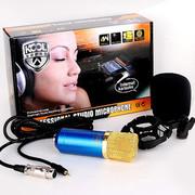 KOOL 电脑网络K歌 电容麦克风 声卡录音设备套装话筒 普通版黑色