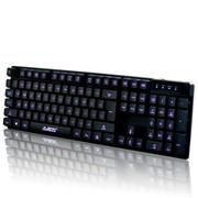 黑爵 机械战士背光键盘套装 笔记本有线夜光发光外接键盘 lol电竞游戏套装 机械电竞风扇三件套