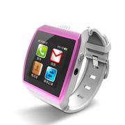 喜越 M7新款智能手环手表 穿戴式蓝牙手表手机 适用于三星/苹果手机 枚红色