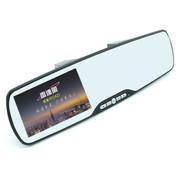 瑞臺雷达眼 BS-1080 超大屏幕车载后视镜行车记录仪 红外夜视广角镜头原车原貌记录 黑色 官方标配+16G高速卡