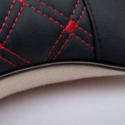乔氏 汽车头枕护劲枕缓解疲劳透气刺绣汽车坐垫专用颈枕 对装 黑红款