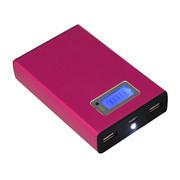 盈之宝(YZB) 移动电源大容量手机充电宝10400mAh不发热安全移动电源 充电宝礼品定制 好充电宝 玫红色