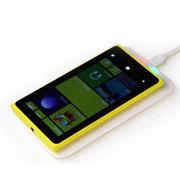 BQBQ 手机无线充电器 QI标准充电板发射端苹果/三星/诺基亚/安卓通用手机无线充电器 QI无线充 白色