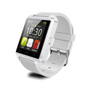 喜越 U8新款智能手表手环车载可通话蓝牙手表来电免提震动 象牙白