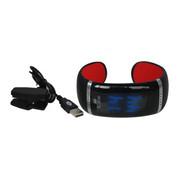 ione JD-Z1 智能手环 健康手环手镯 可穿戴智能蓝牙手表 手机平板通用 炫酷腕表 黑红SWA001