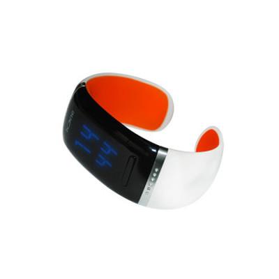 ione JD-Z1 智能手环 健康手环手镯 可穿戴智能蓝牙手表 手机平板通用 炫酷腕表 白橙SWA003产品图片2