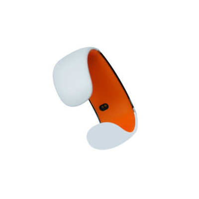 ione JD-Z1 智能手环 健康手环手镯 可穿戴智能蓝牙手表 手机平板通用 炫酷腕表 白橙SWA003产品图片3