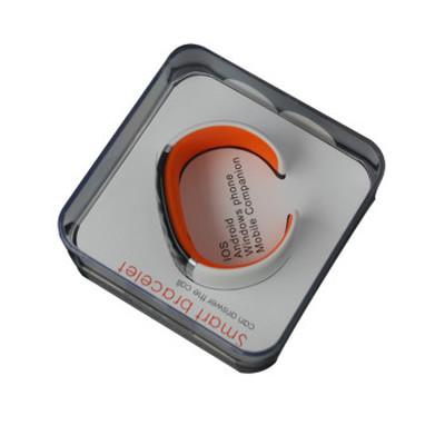 ione JD-Z1 智能手环 健康手环手镯 可穿戴智能蓝牙手表 手机平板通用 炫酷腕表 白橙SWA003产品图片5